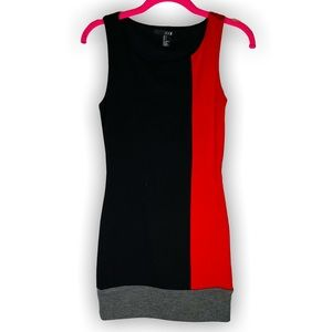 Color Block Mini Dress, Size S